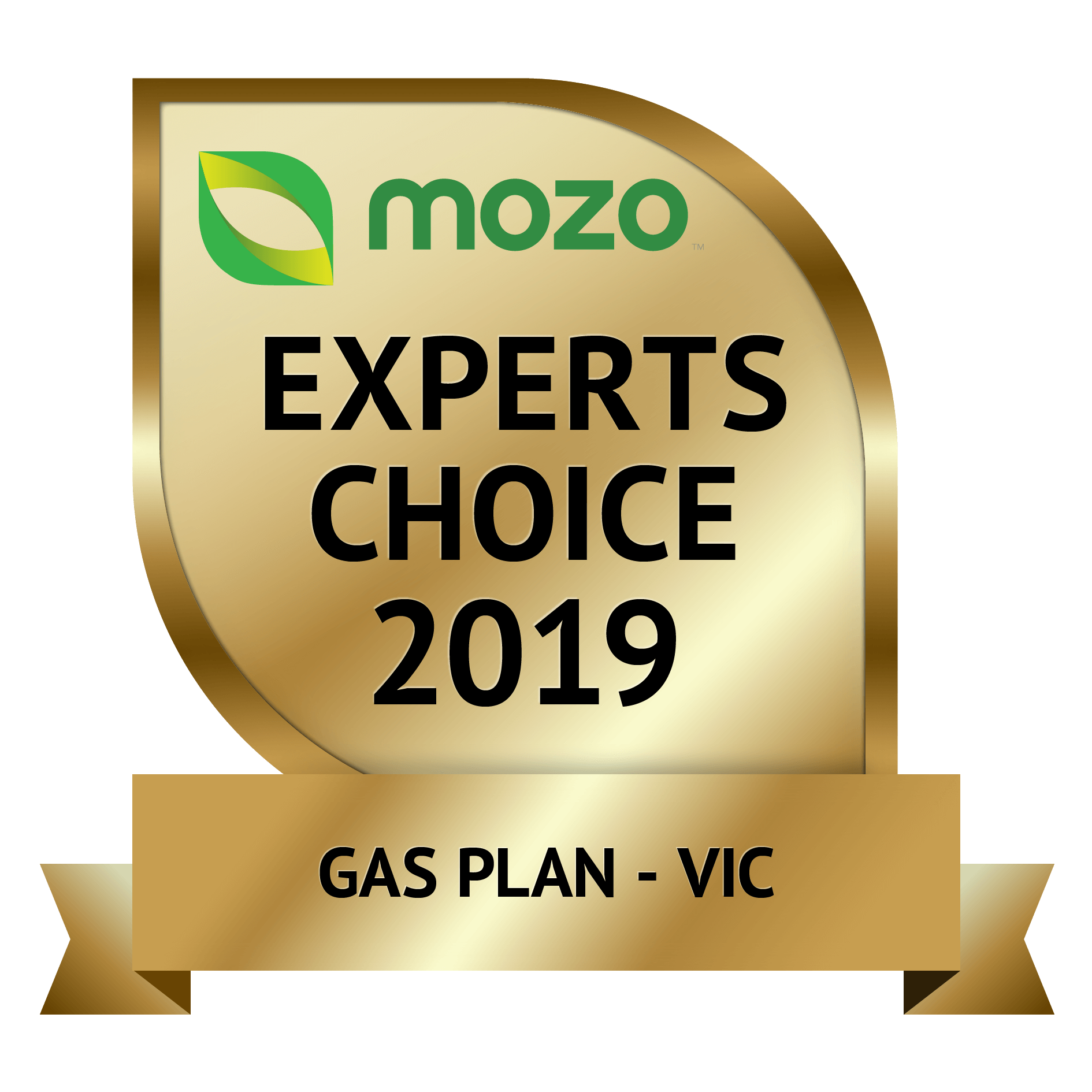 Mozo Award for Best Energy Plan - Gas Plan (Victoria) 2019