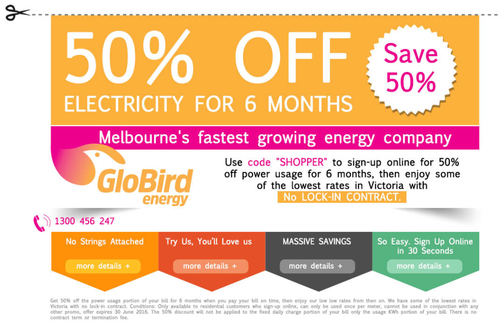 50% OFF Electricity for 6 months