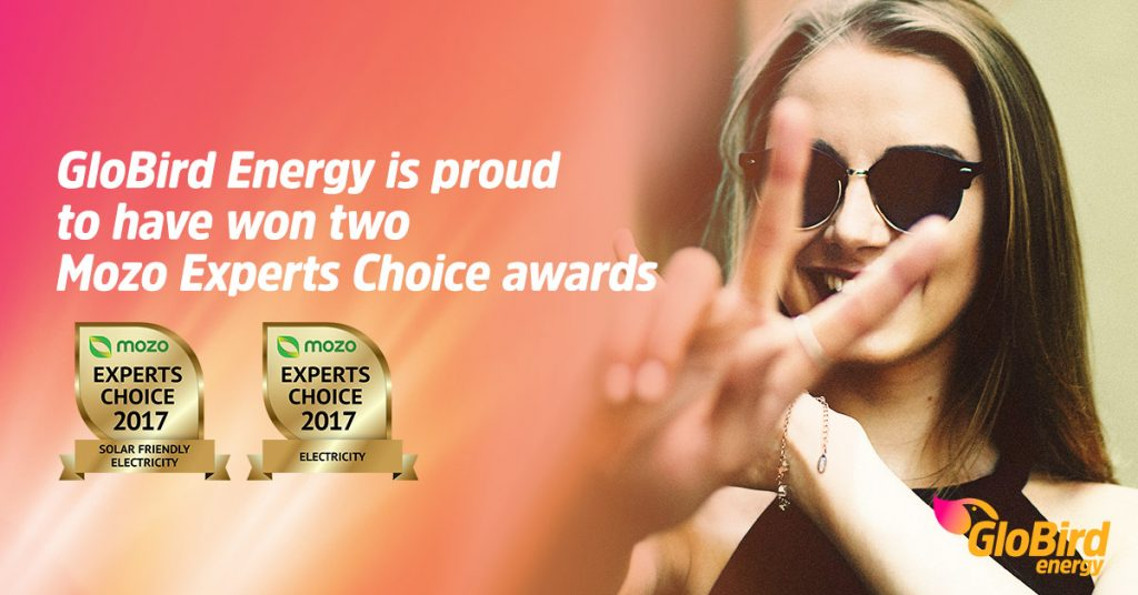 GloBird Energy is proud to have won two Mozo Experts Choice awards