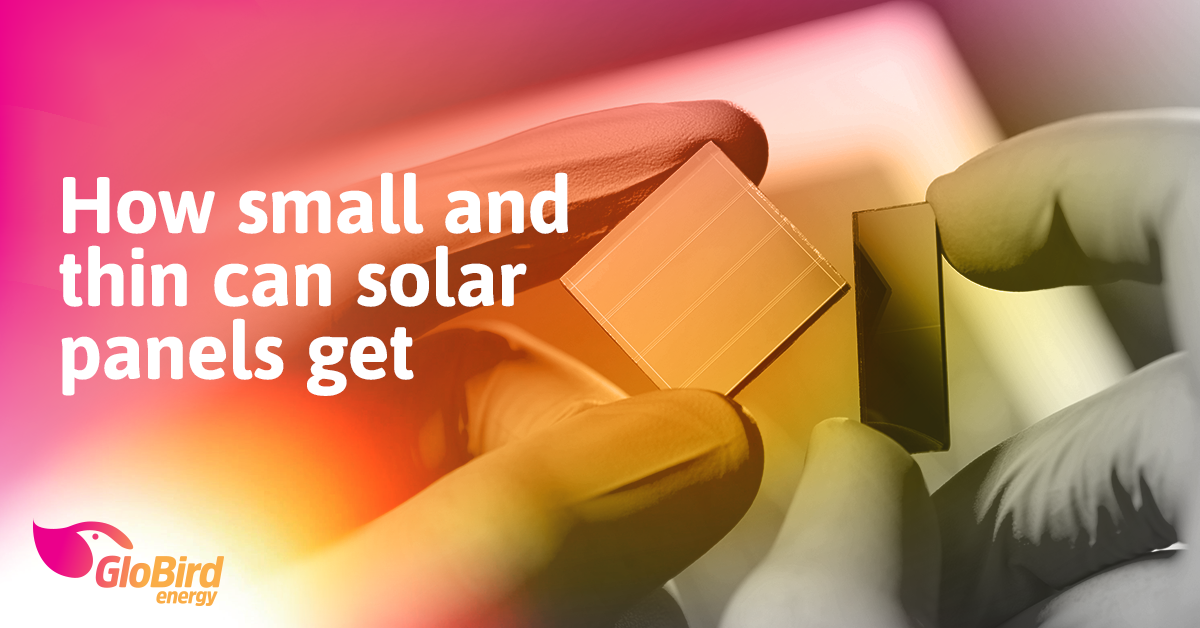 How small and thin can solar panels get?