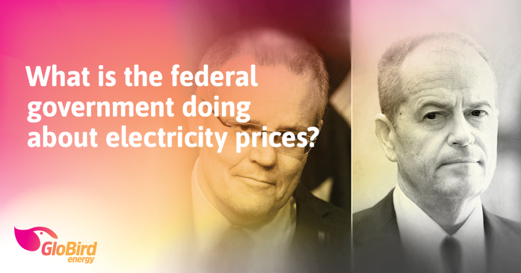 What is the federal government doing about electricity prices?
