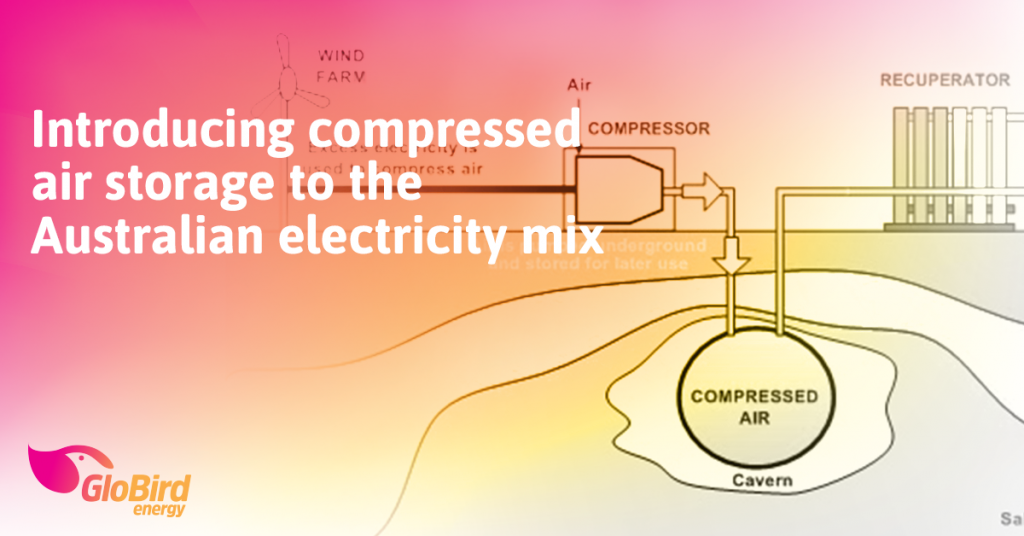 Introducing compressed air storage to the Australian electricity mix