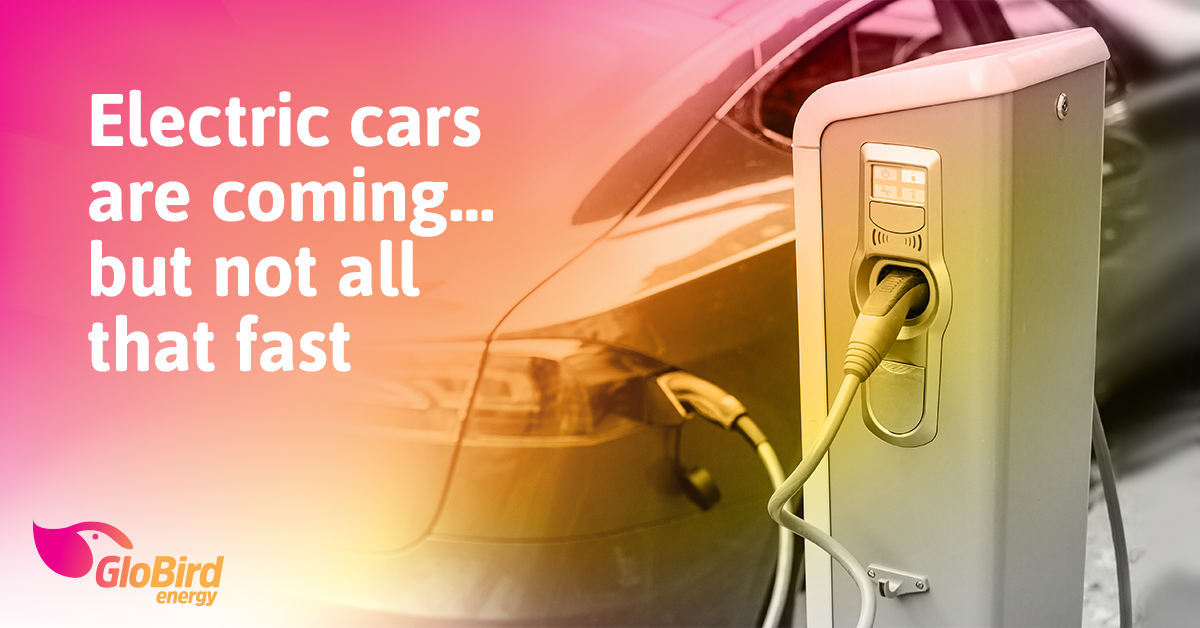 Electric cars are coming … but not all that fast