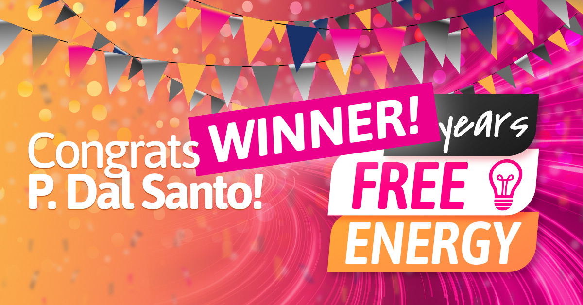 Win a year's FREE energy: We have a WINNER!