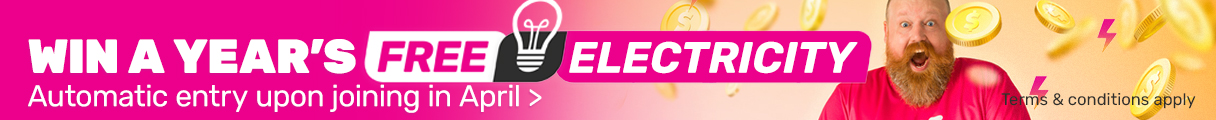 Win a year's free electricity