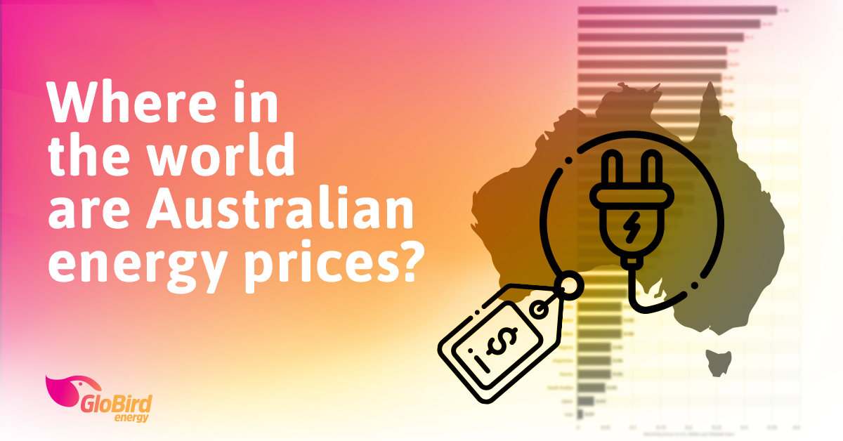 Where in the world are Australian energy prices?